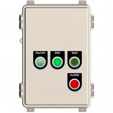 Liquid level relay control panel with indicators