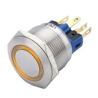 22mm illuminated button momentary amber 24VAC/DC