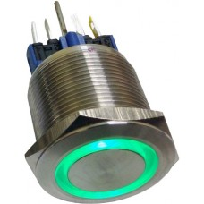 22mm illuminated button momentary green 24VAC/DC