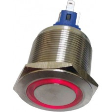 22mm illuminated button momentary red 24VAC/DC