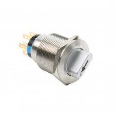 22mm illuminated rotary 2pos latched switch 24VDC
