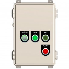 Liquid level relay control panel with indicators