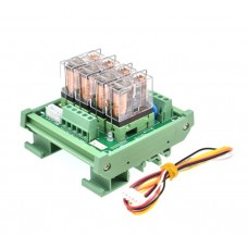 4 Channels 1 SPDT DIN Rail Mount 16A 24VDC Relay Module