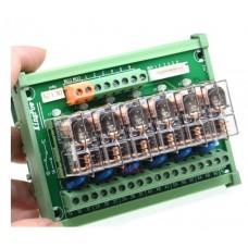 6 Channels 1 SPDT DIN Rail Mount 16A 24VDC Relay Module